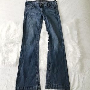 Dark Wash Low-Rise Boot Cut Jeans